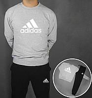 Спортивный костюм Adidas (Premium-class) серо-черные