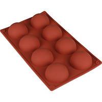 Форма для выпечки силиконовая Stenson на листе 8шт, размер 27х16х3см, коричневая, Силиконовые формы для выпечки