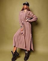 Платье Doratti Карамель стильное теплое с поясом миди разные цвета Smdor4000