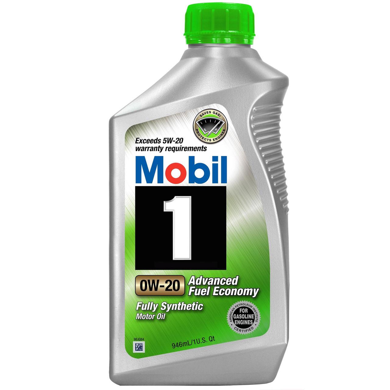 Моторное масло MOBIL Mobil 1 Advanced Fuel Economy 0W-20 0.946л