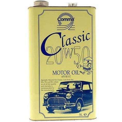 Моторное масло Comma CLASSIC MOTOR OIL 20W-50 5л, фото 2