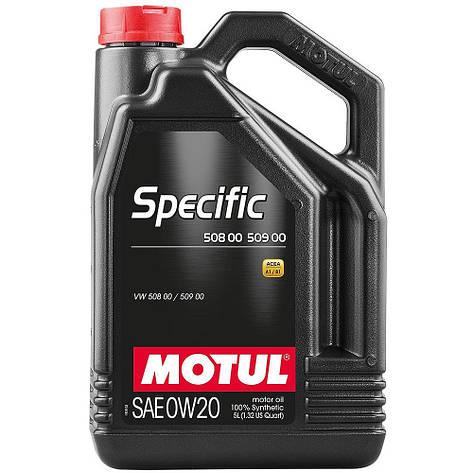 Моторное масло MOTUL SPECIFIC 508.00 509.00 0W-20 867251 5л, фото 2