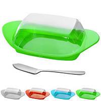 Масленка R83515 пластик, с ножом для масла, 24*12*6.5см, масленка, столовая посуда, лимонницы, сырницы, посуда, посуда кухонная и аксессуары