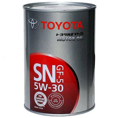 Моторное масло Toyota Motor Oil 5W-30 08880-10706 1л, фото 2