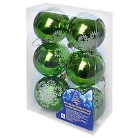 Елочные шарики Магічна- Новорічна SY18QJHB-1260 пластик, 8см, в коробке 2шт, новогодние украшения, новогодние игрушки, елочные игрушки, новый год