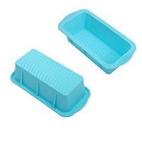 Форма для выпечки силиконовая Stenson размер 25х12х7,5см, голубая, Посуда, Силиконовые формы для выпечки