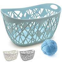Корзина - плетенка с ручками Stenson размер 30х24х15см, пластик, корзина в кухню, корзина кухонная, корзинка для вещей
