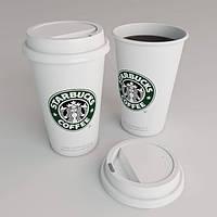 Чашка керамическая StarBucks HY101 Белая с силиконовой крышкой 350 мл, стакан StarBucks HY101