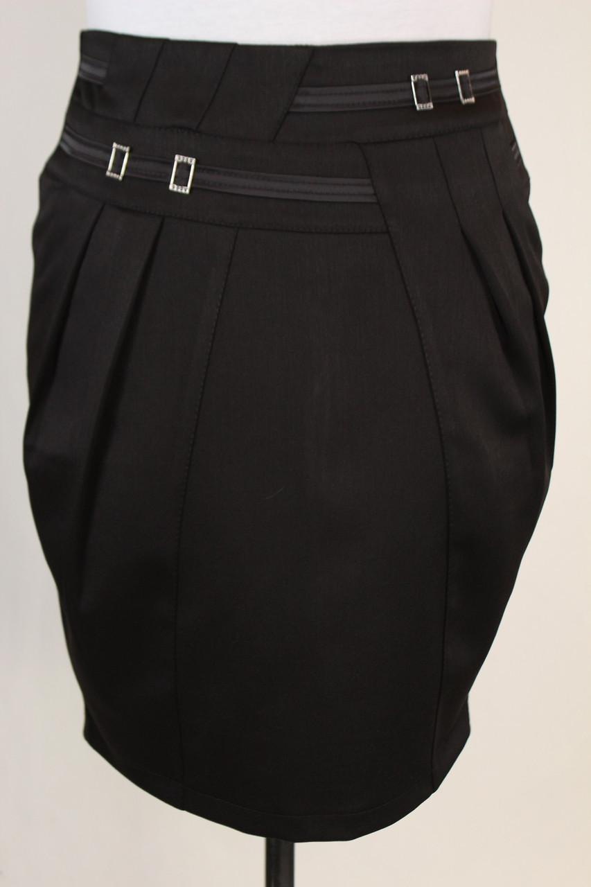 Модная черная юбка 46-52 р