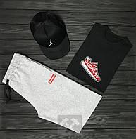 Мужской летний костюм Supreme & Jordan (Суприм и Джордан) комплект 3 в 1