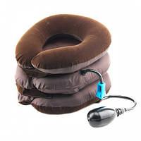 Надувная Ортопедическая подушка AIR PILLOW OSTIO Воротник на шею для вытягивания позвонков