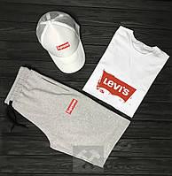 Мужской летний костюм Supreme & Levi's (Суприм и Левайс) комплект 3 в 1