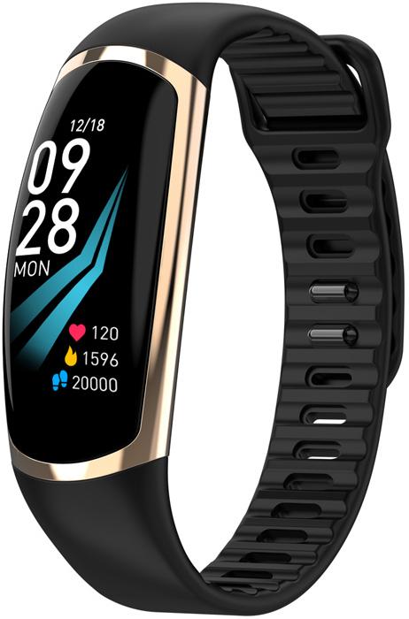 Фитнес-браслет R16 ( Smart Band R16 )   IP67   Тонометр   Черный с золотом