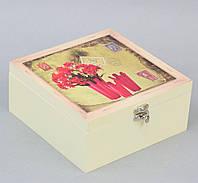 Шкатулка для чая Red Flowers SKL11-208430