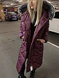 Куртка женская удлинённая. Цвета: черный, марсала, серый, фото 4