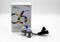 Светодиодные автолампы LED ламп C6 в туманки 9006, мощность 32 W, комплект автомобильных LED ламп