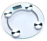 Весы напольные ACS 2003A Круглые + датчик температуры, максимальный вес 150 кг, работают от батареек, электронные весы, бытовые весы