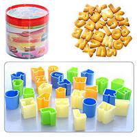 """Формочки фигурные для печенья пластик """"Буквы"""" N01320, формочка бумажная для кексов, формочки из бумаги для кексов"""