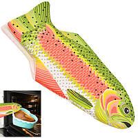 """Перчатка - прихватка для горячего Senson """"Рыбка"""" размер 40х17см, разноцветная, текстиль, кухонная прихватка, кухонная рукавица"""