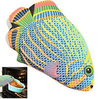 """Перчатка - прихватка для горячего Senson """"Рыбка 3"""" размер 26х16см, разноцветная, текстиль, кухонная прихватка, кухонная рукавица"""