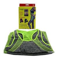 Бриджи и топ для похудения Yoga sets, костюм для занятий спортом, комплект бриджи и майка для спорта