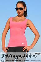 Спортивная розовая майка, фото 1