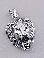 Кулон мужской в виде Льва из Медицинской стали 316L, качественный и долговечный 40х30 мм.