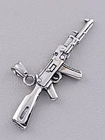 Кулон мужской в виде Автомата из Медицинской стали 316L с эффектом чернения 75х20 мм.