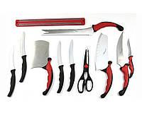 Набор кухонных ножей CONTOUR PRO, 10 ножей + магнитный держатель, набор ножей для кухни, ножи кухонные