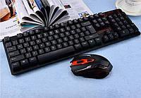 Клавиатура KEYBOARD HK-6500 + мышь беспроводная, комплетк клавиатура и мышь HK-6500