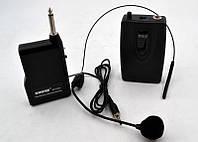 Беспроводной Микрофон - гарнитура UKC DM 192B, чувствительность 72 дБ, частоты 100Гц-10кГц, эффективное расстояние 20-30 м, цвет черный, беспроводные