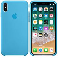 Чехол накладка xCase для iPhone X/XS Silicone Case голубой