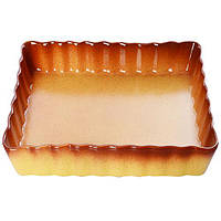 """Форма для выпечки пирога керамика прямоугольная Firex """"Ethno Organic"""" 236766 коричневый, 31.5*21*4.5см, формы для выпечки, формы для выпекания"""