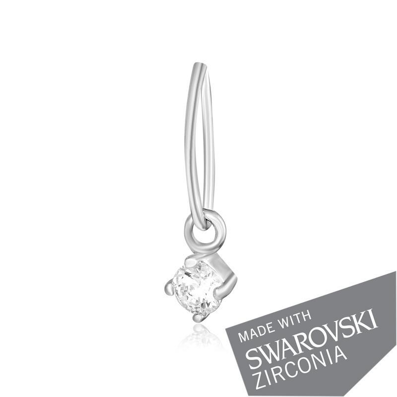 Серебряная подвеска, кулон с цирконием SWAROVSKI ZIRCONIA П2С/330