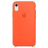Чехол накладка xCase для iPhone XR Silicone Case оранжевый