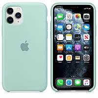 Чехол накладка xCase для iPhone 11 Pro Silicone Case светло бирюзовый