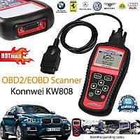 Универсальный автосканер Konnwei OBDII/EOBD scanner KW 808, Диагностический сканер авто, атомобильный сканер