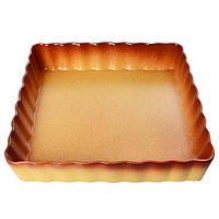 """Форма для выпечки пирога керамика прямоугольная Firex """"Ethno Organic"""" 236768 коричневый, 31*5.5см, формы для выпечки, формы для выпекания"""