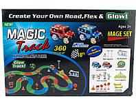 Супер Подарок ребенку ! Magic tracks светящаяся дорога 360 деталей гоночная трасса   AG380030