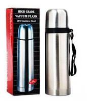 🎁 Коллеге подарок, водителю ! Термос металлический HIGH GRADE VACUUM FLASK счашкой в комплекте. | AG360041