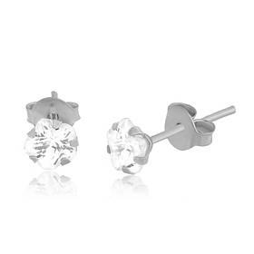 Серебряные серьги с фианитом детские С2Ф/607