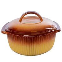 """Кастрюля керамика с крышкой """"Ethno Organic"""" 236788 объем 1.2л, керамика, 21*17*8см, кастрюли, кухонная посуда, посуда, керамические кастрюли"""
