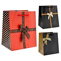 (Цена за 12шт) Пакет подарочный бумажный Stenson размер 30,5х27х12см, с ручками, с принтом, Бумажные пакеты