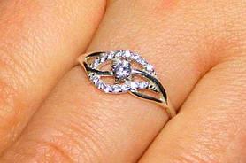 Кольцо серебро 925 проба 16 размер АРТ291