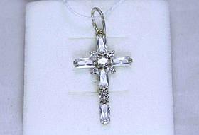 Крест с камнями серебро 925 проба АРТ3094