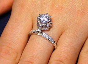 Кольцо серебро 925 проба 18 размер АРТ1173