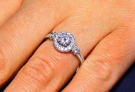 Кольцо серебро 925 проба 18 размер АРТ1186