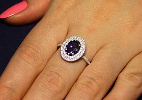 Кольцо серебро 925проба 17.5 размер АРТ1191 фиолет