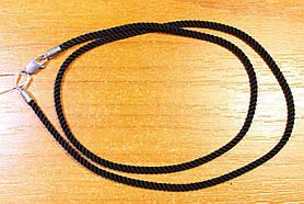 Шнурок Черный Шелк Серебро 925 проба 45см 2мм