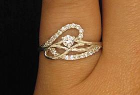 Кольцо серебро 925 проба 16.5 размер №304